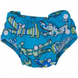 Couche (maillot de bain) Crocodiles turquoise