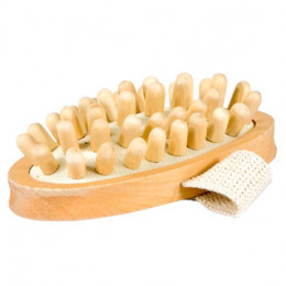 Brosse anti cellulite en bois
