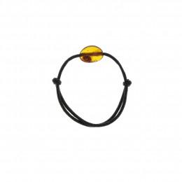 Bracelet pour enfant avec pierre d'ambre cognac