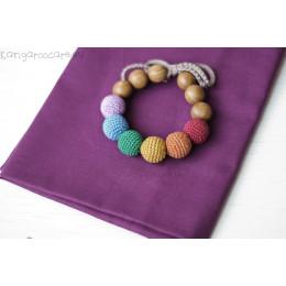 Bracelet de dentition - colori arc-en-ciel d'automne