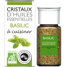Cristaux d'huiles essentielles à cuisiner - basilic - 10 g