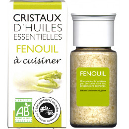 Cristaux d'huiles essentielles à cuisiner - fenouil - 10 g
