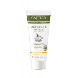 Crème mains argile blanche BIO 30 ml