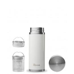 Théière nomade isotherme en inox 300 ml Blanc