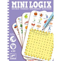 Jeu de réflexion Mini Logix 'Mots mêlés anglais' - à partir de 6 ans