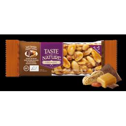Barre aux noix et fruits secs - Chocolat noir Peanut caramel - 1 x 40 g