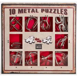 Set de 10 casse-têtes métal - à partir de 7 ans - version rouge