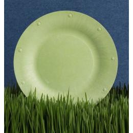 Grande assiette végétale compostable - 25,4 cm - Lot de 8 - Blanc cassé