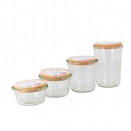 Pot de conservation Weck en verre avec couvercle en liège