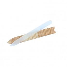 Lime à ongles en verre avec étui en bois