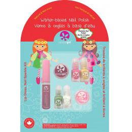 Set de 4 minis vernis à ongles et brillants à lèvres pour enfant - à partir de 3 ans