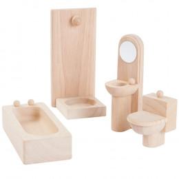 Salle de bain bois maison de poupée - à partir de 3 ans