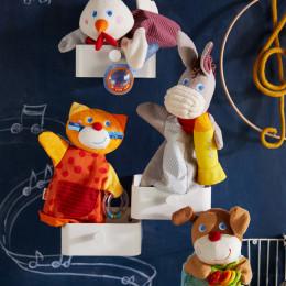 Marionnette sonore Coq musicien HABA