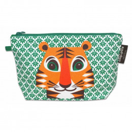Trousse à soufflets en coton Bio - Love Cats - Tigre