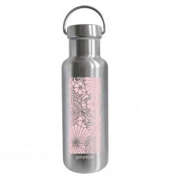 Gourde Isotherme Groovy Inox - imprimée champetre rose pastel - 500 ml