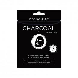 Masque visage Konjac - Charbon de bambou