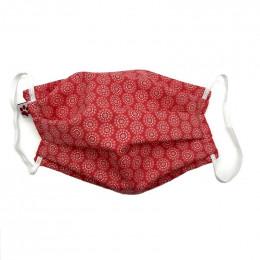 Masque buccal  avec pince nez pour adulte - Orebro red