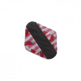 Serviette hygiénique lavable Minky - absorbant gris - Pastèques