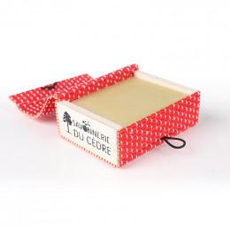 Boîte à savon en bambou - Rouge