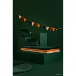 Coussin Akamba velvet 45x30 cm - Jungle green