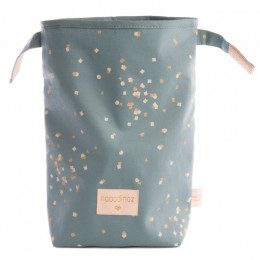 Sac à déjeuner Too cool - Gold confetti & Magic green