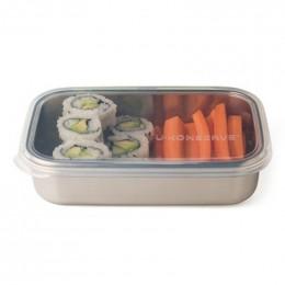 Boîte rectangulaire en inox - 740 ml - couvercle en silicone