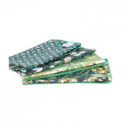 4 mouchoirs en coton Fiduo vert - XL - 30 x 30 cm