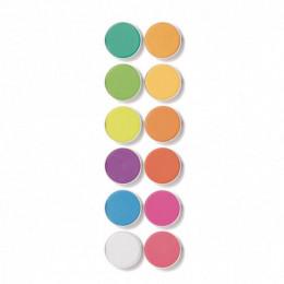 12 pastilles de gouaches - Fluo