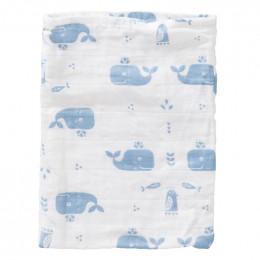 Set de 3 gants de toilette en tétra - Whale blue fog