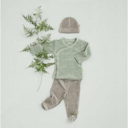 Pantalon bébé à pieds Paloma grey
