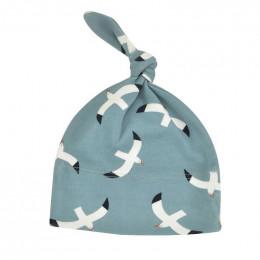 Bonnet en coton BIO - Mouettes Bleu
