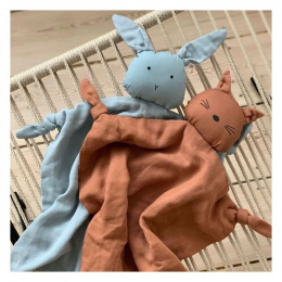 Doudou Agnete Lapin - sea blue