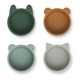 Bols en silicone Malene - 4 pack - Green multi mix