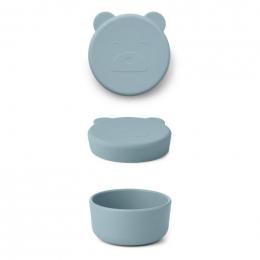 Boîte à collations Carrie - Mr bear sea blue