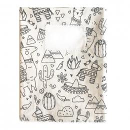 Protège cahier en tissu lavable - A4 - Lama