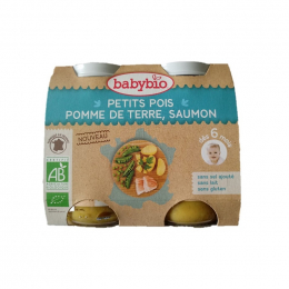 Petits pois, pomme de terre et saumon - dès 6 mois - 2 x 200 g