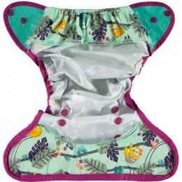 Culotte de protection pour couches lavables - Taille unique pression - Paresseux