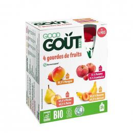 Kit premiers fruits - 4 gourdes de 120g - dès 4 mois