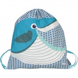 Sac d'activités enfant en coton BIO - Baleine