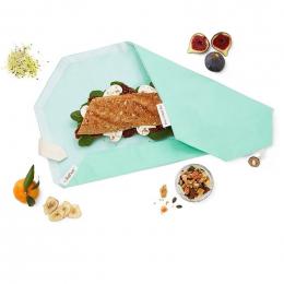Pochette sandwich lavable et réutilisable Boc'n'Roll BIO - Turquoise